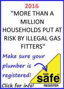 Explanation of Gas safe registration requirements.