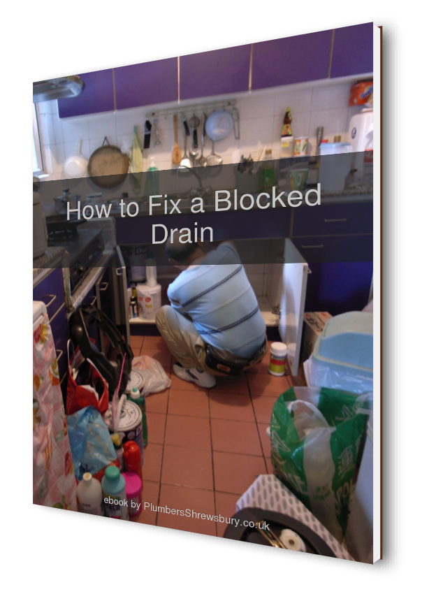 Image showing how to fix blocked drains by Plumbers Shrewsbury Co UK book cover
