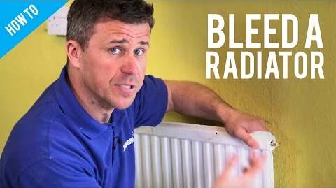 Image showing how to bleed a radiator