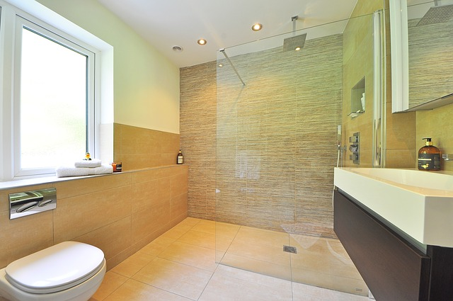 Image shows a walk in shower, a popular bathroom design in Shrewsbury, shropshire