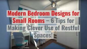 Featured image which illustrates the article bedroom design tips for small rooms.