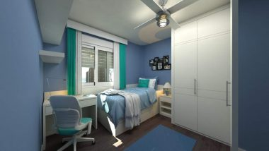 How storage can be integrated into modern bedroom designs for small rooms.