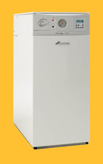 A modern Oil Boiler for fitting in the home.