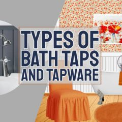 """Text in image: """"Types of bath taps""""."""