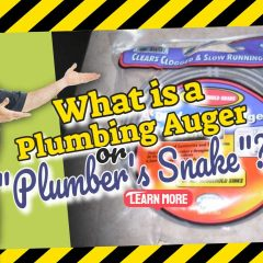"""Image text: """"What is a Plumbing Auger or Plumbers Snake""""."""