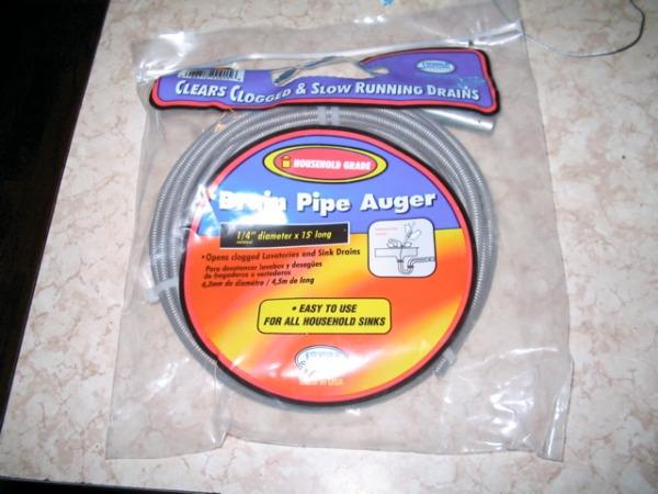 Drain auger or snake