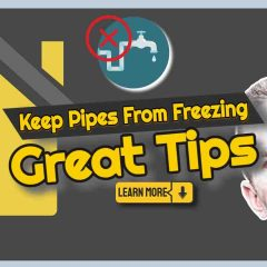 """Image text: """"Keep pipes from freezing great tips""""."""